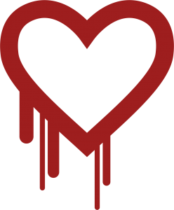 Heartbleed Logo reminding us on the need for security in IoT